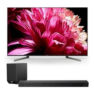 "Sony XBR85X950G 85"" BRAVIA 4K Ultra HD HDR Smart TV with HT-ST5000 7.1.2ch 800W Dolby Atmos Sound Bar - Black"