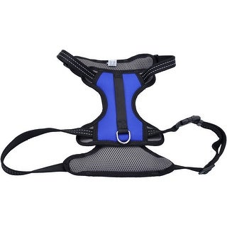 Coastal Reflective Control Handle Harness-Blue Large