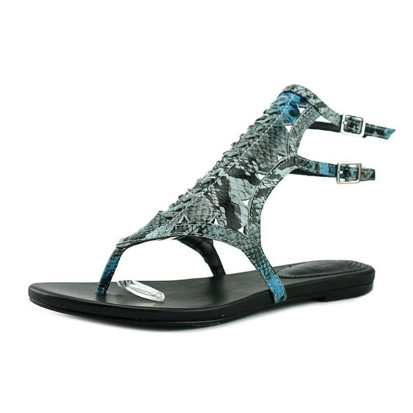 Hardy Anlaby Women Light Blue Snake Sandals