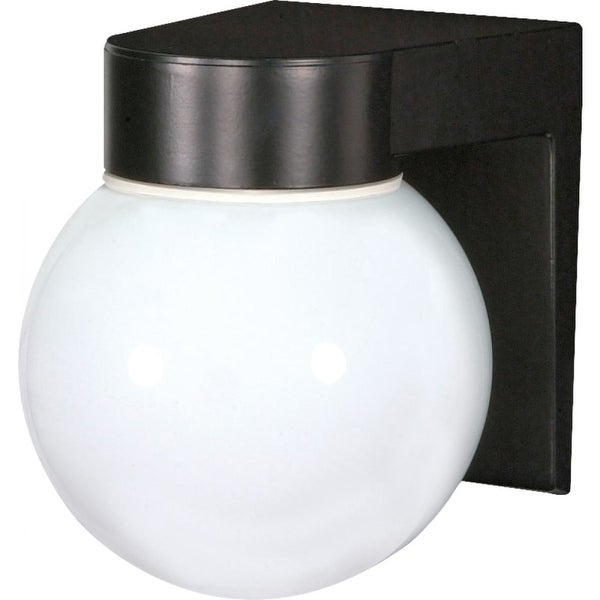"Nuvo Lighting 77/140 1-Light 6"" Tall Outdoor Wall Sconce with Frosted Glass Shade - Black - n/a"