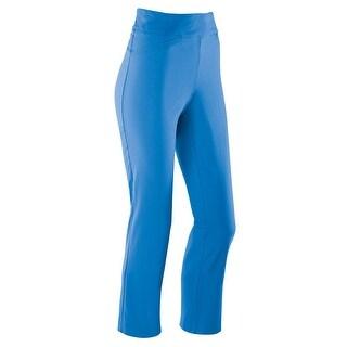 Women's High Waist Stretch Capri Pants - Luna Bengaline Weave with Front Pockets