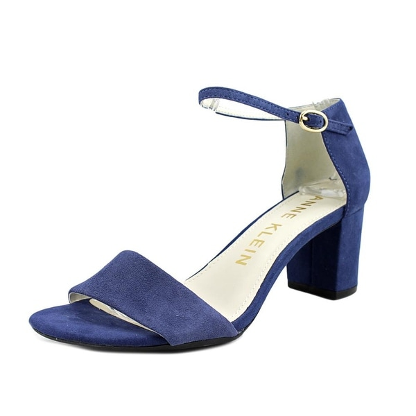 Anne Klein Camila Women Open Toe Suede Blue Sandals