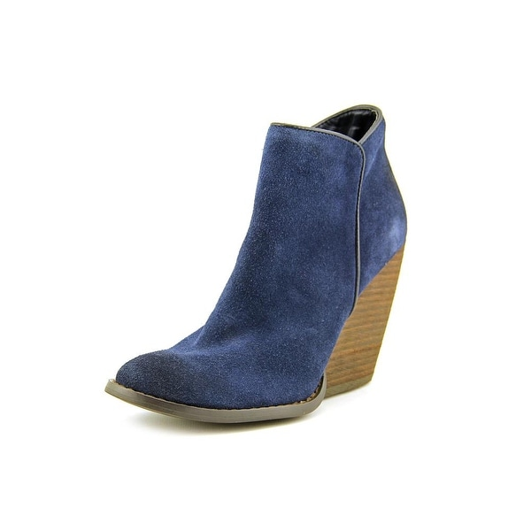 Very Volatile Whitby Women US 7.5 Blue Ankle Boot