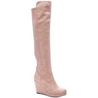 Chinese Laundry Womens Lavish/lovey Suede Closed Toe Knee High Fashion Boots