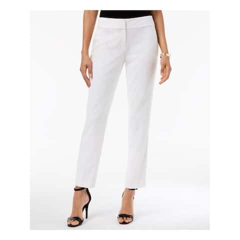 KASPER Womens Ivory Crepe Pants Plus Size: 18