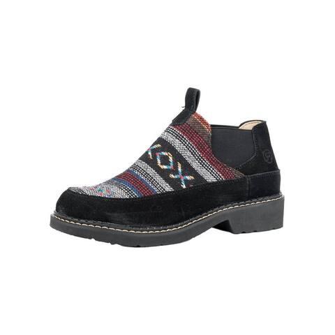 Roper Casual Shoes Womens Isabel Aztec Slip Black