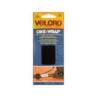 """Velcro One Wrap Tie with Tab 8x.5"""" Black 5pc"""