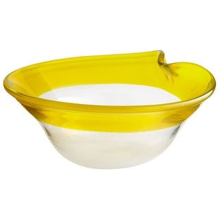 """Link to Cyan Design Medium Saturna Bowl Saturna 13.5"""" Wide Glass Decorative - Yellow and Clear Similar Items in Serveware"""