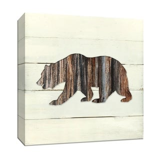 """PTM Images 9-147796  PTM Canvas Collection 12"""" x 12"""" - """"Woodland Bear"""" Giclee Bears Art Print on Canvas"""