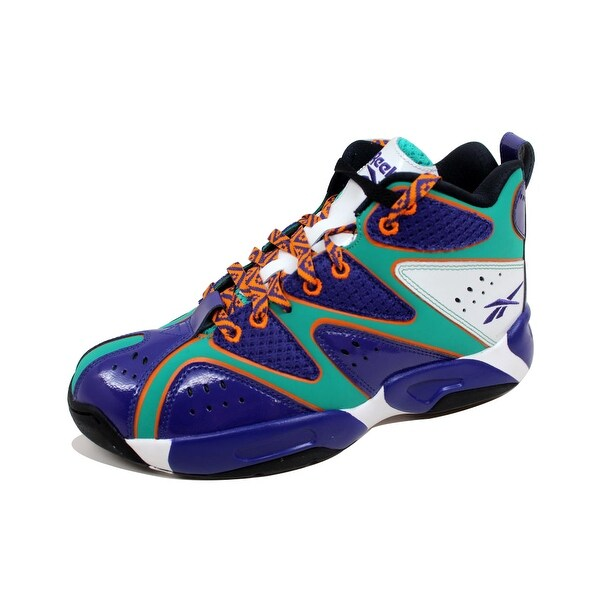 Reebok Men's Kamikaze I 1 Mid Mesh Purple/Teal-Orange-White M41453