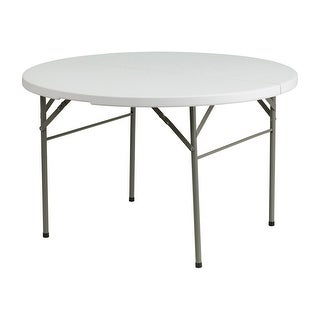 """Offex 48"""" Round Bi-Fold Granite White Plastic Folding Table https://ak1.ostkcdn.com/images/products/is/images/direct/4de4e194608e1bce75413d297f56af3857028ca5/Offex-48%22-Round-Bi-Fold-Granite-White-Plastic-Folding-Table.jpg?_ostk_perf_=percv&impolicy=medium"""