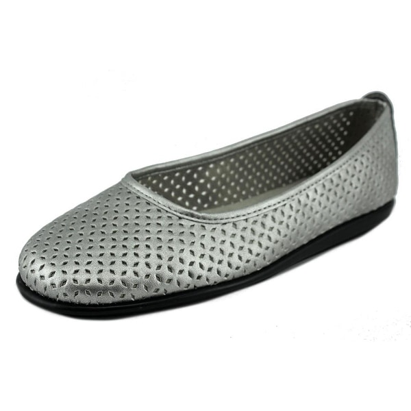 A2 By Aerosoles Solsa Dance Women Round Toe Synthetic Silver Flats