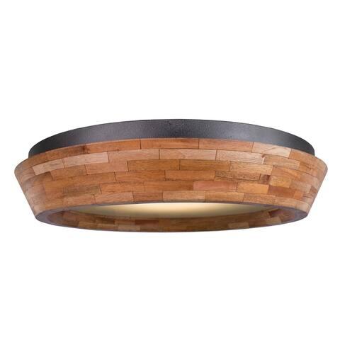 Kalco 505541BI LED Flush Mount Lansdale Black Iron - One Size