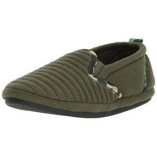 Dearfoams Boys 50676 Fabric Slip On Loafers
