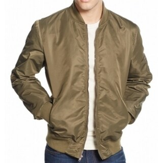 American Rag NEW Green Olive Mens Size Medium M Bomber Zip-Front Jacket