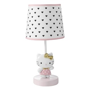 Bedtime Originals Pink Hello Kitty Luv Lamp with Shade & Bulb