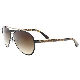 Emporio Armani EA2024 300113 Brown/Havana Aviator Sunglasses - 58-16-140