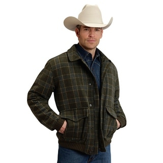 Stetson Western Jacket Mens L/S Wool Green 11-097-0540-0717 GR