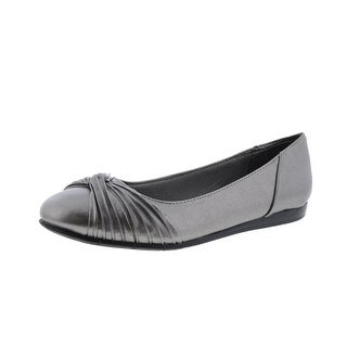 LifeStride Womens Notorious Faux Leather Ballet Flats