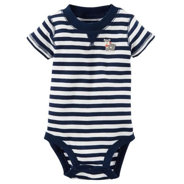d664f8279 Shop Carter s Baby Boys  Striped Bulldog Bodysuit