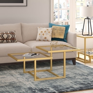 Link to Silver Orchid Solm Two-Tier Gold Coffee Table Similar Items in Living Room Furniture