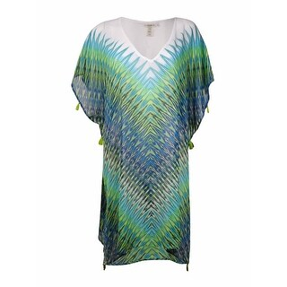 Bleu Rod Beattie Women's Printed Pattern Chiffon Coverup - Twilight