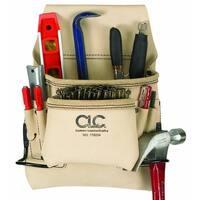 CLC 178234 Carpenter's Nail & Tool Bag, 8 Pockets
