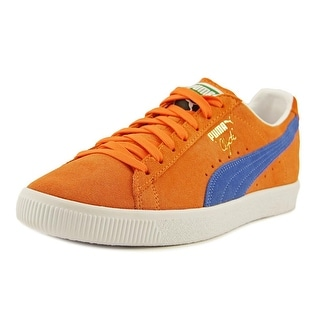Puma Clyde NYC Men  Round Toe Suede Orange Fashion Sneakers