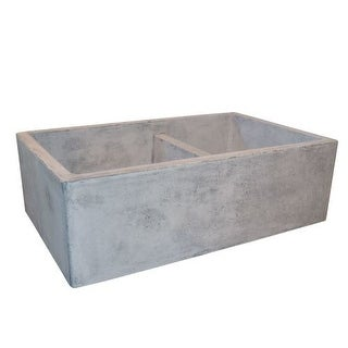 """Native Trails NSKD3321 Farmhouse 33"""" Double Basin NativeStone Kitchen Sink for Undermount or Farmhouse Installations with 60/40"""