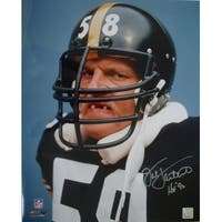 Jack Lambert signed Pittsburgh Steelers 16x20 Photo Tooth HOF 90 Lambert Hologram