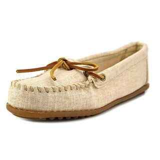 Minnetonka Canvas Moccasin Women  Moc Toe Leather  Loafer