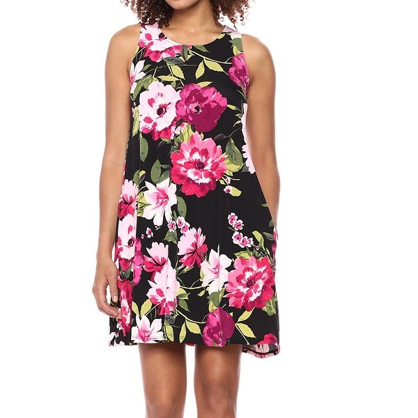 857bab8a0071 Shop Karen Kane Black Womens Size Large L Chloe Floral Sheath Dress ...