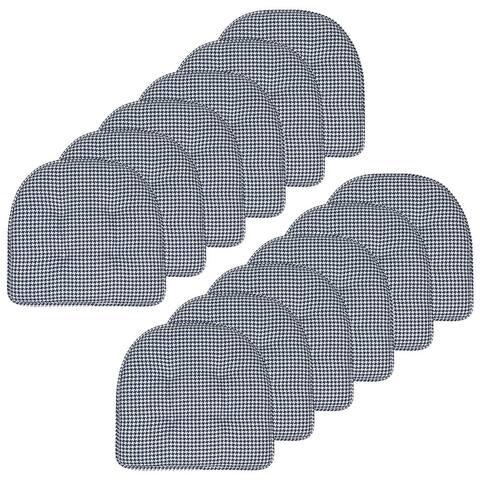 Houndstooth U-Shaped 16 x 17 Memory Foam Chair Pad