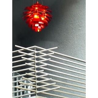 LexMod Red 28-inch Modern Chandelier Lamp