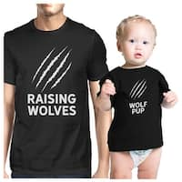 Raising Wolves Cute Fathers Day Gifts Funny Baby Graphic Tee Shirt