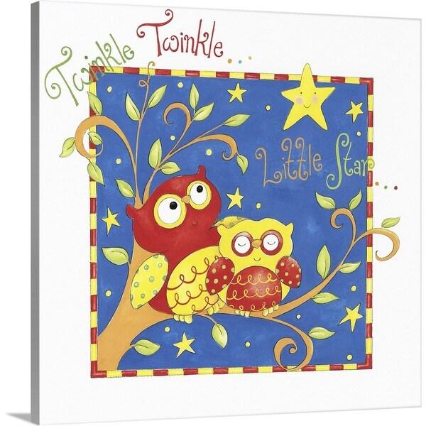 """""""Twinkle Twinkle Little Star"""" Canvas Wall Art"""