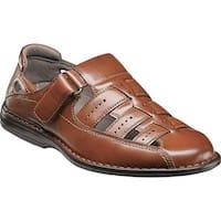 Stacy Adams Men's Bridgeport Fisherman Sandal 25184 Cognac Synthetic