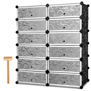 Link to Costway 12 Cubic Portable Shoe Rack Shelf Cabinet Storage Closet Similar Items in Laundry
