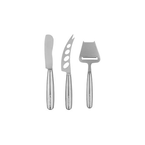 Cuisinart Stainless Steel Cheese Knife Set, 3-Piece Set - Stainless Steel