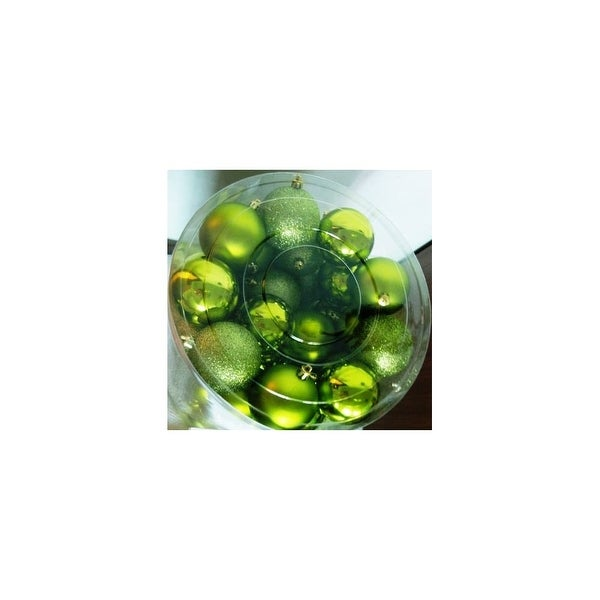 Christmas at Winterland WL-ORNTUBE-60-LG 1.5-Inch Plastic Shatterproof Lime Green Ball Ornaments (Package of 100)