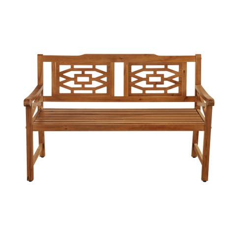 OVE Decors Malay 54 in. Bench with Natural Wood Look Finish - 54 in.