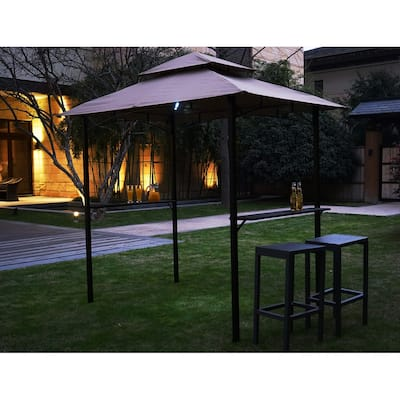 Kozyard Andra 8'X5' Soft Top Barbecue Grill Canopy with LED lights