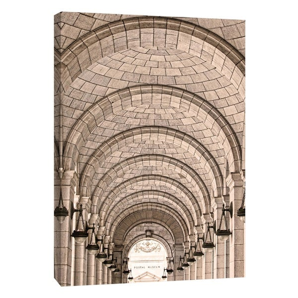 """PTM Images 9-105992 PTM Canvas Collection 10"""" x 8"""" - """"Union Station Arches"""" Giclee Buildings and Landmarks Art Print on Canvas"""