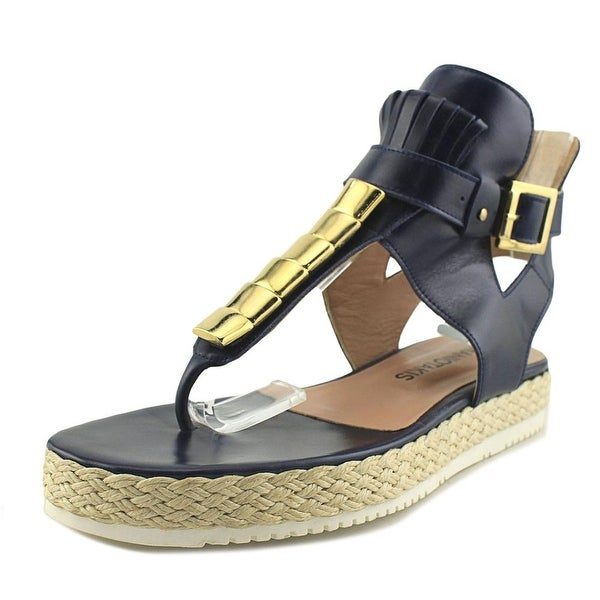 Chaniotakis Sierra Women Open Toe Leather Blue Sandals