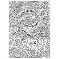 """Dream - Adult Coloring Canvas 16""""X20"""" W/12 Markers"""