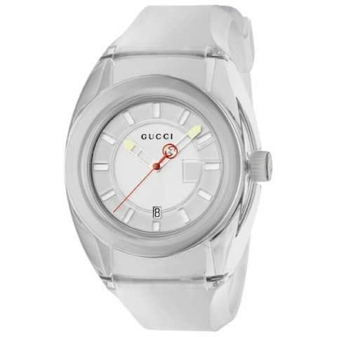 Gucci Men's YA137110 'Sync' White Rubber Watch