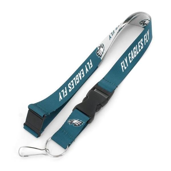 "Philadelphia Eagles Lanyard Breakaway Style Slogan Design - Teal/White - 22"". Opens flyout."