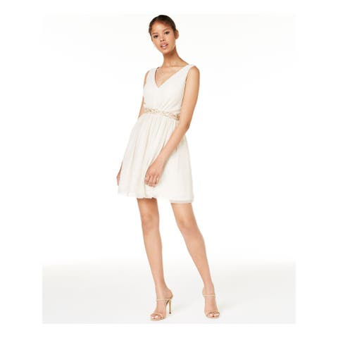 BCX Beige Sleeveless Mini Dress 14W