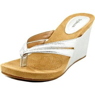 Style & Co Cassiee Open Toe Canvas Wedge Heel