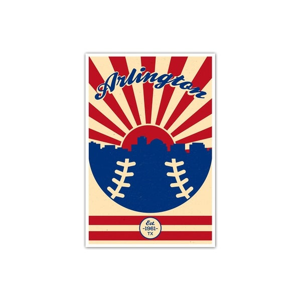 Texas - Vintage MLB - 16x24 Gallery Wrapped Canvas Wall Art